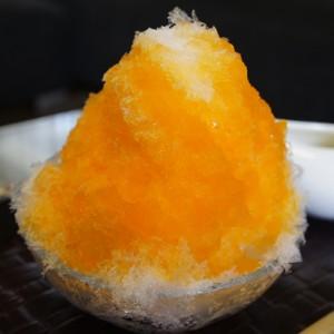 かき氷 オレンジ